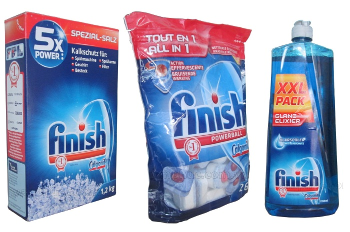 Bộ chất tẩy rửa Finish dùng cho máy rửa bát