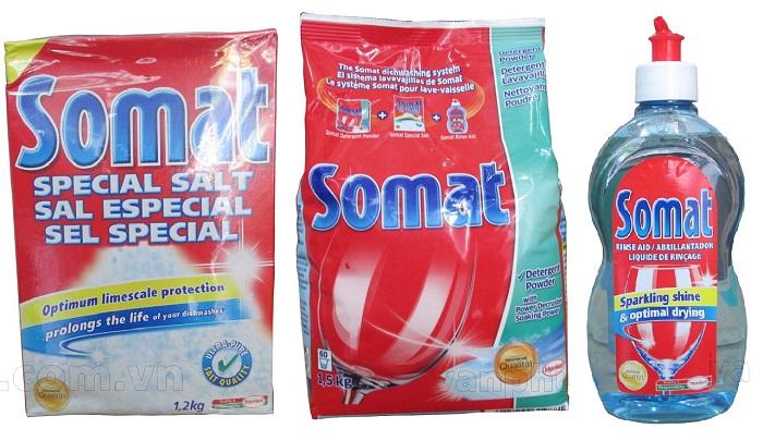 Bộ chất tẩy rửa Somat dùng cho máy rửa bát