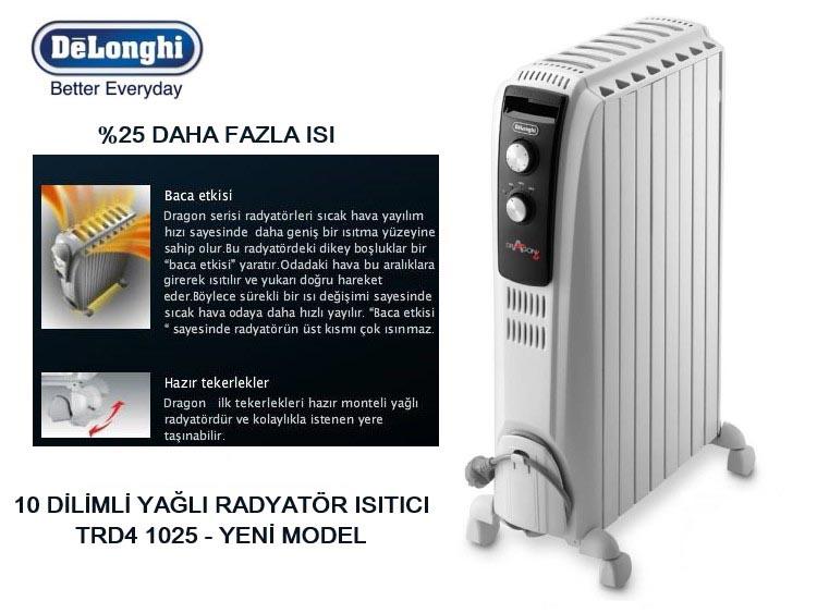 Máy sưởi dầu Delonghi Dragon 4 TRD4 1025 công nghệ Italia