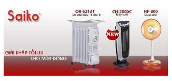 Máy sưởi dầu Saiko OR-5213T -Giải pháp tối ưu cho mùa đông