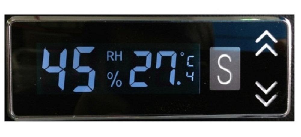 Kết quả hình ảnh cho màn hình hiển thị độ ẩm của tủ chống ẨM