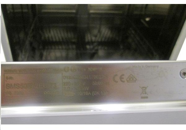 Thông tin về xuất xứ và thông số kỹ thuật của máy rửa bát bosch SMS50E22EU