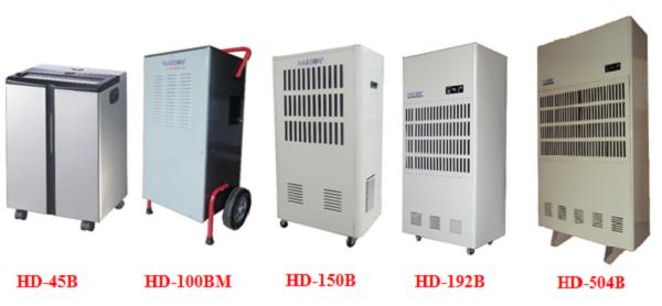 Các Model chủ yếu của máy hút ẩm công nghiệp Harison