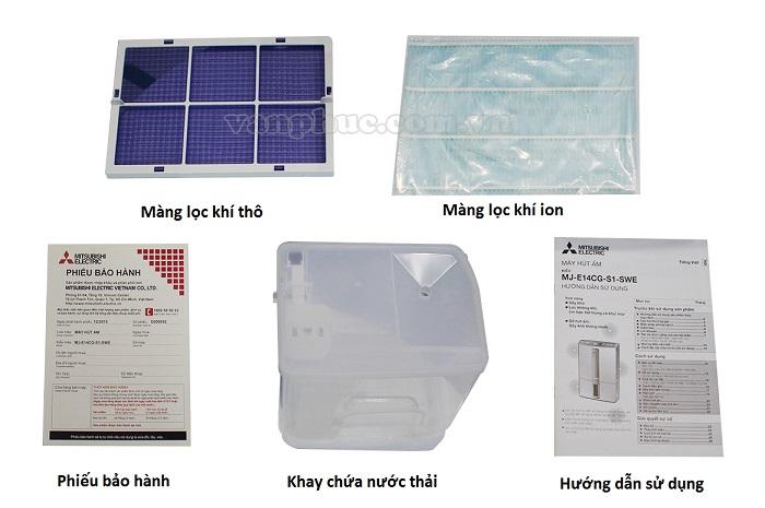 Phụ kiện đi kèm máy hút ẩm mitsubishi MJ-E14CG-S1-SWE