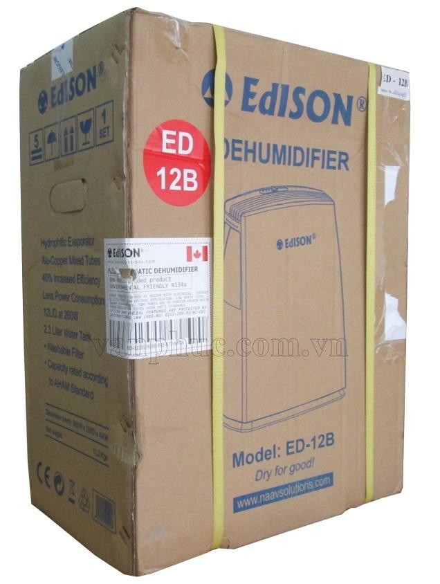 Quy cách đóng gói máy hút ẩm Edison ED-12B