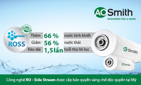 Máy lọc nước RO Aosmith AR600-C-S-1 công nghệ RO side stream