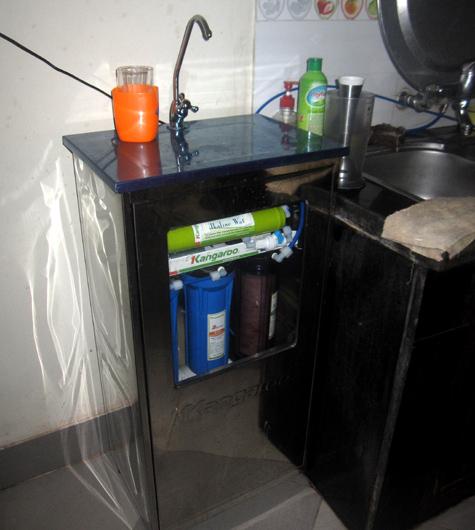 Lắp đặt máy lọc nước Kangaroo KG104 có tủ