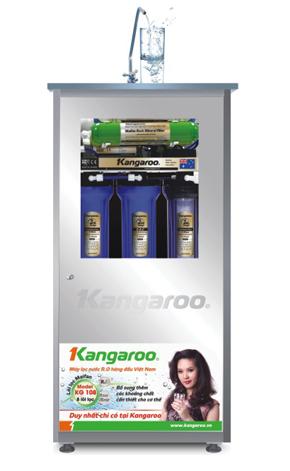 Máy lọc nước Kangaroo KG108 tủ inox không nhiễm từ