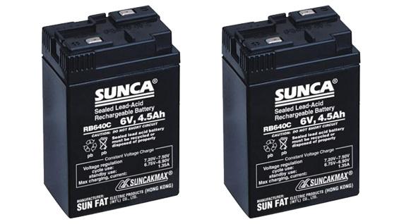 Ắc quy của quạt tích điện Sunca SF-399A