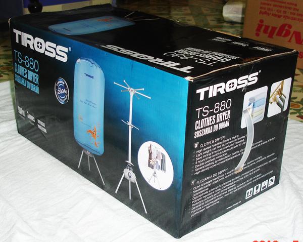 Máy sấy quần áo Tross TS880 nhỏ gọn, tiện dụng