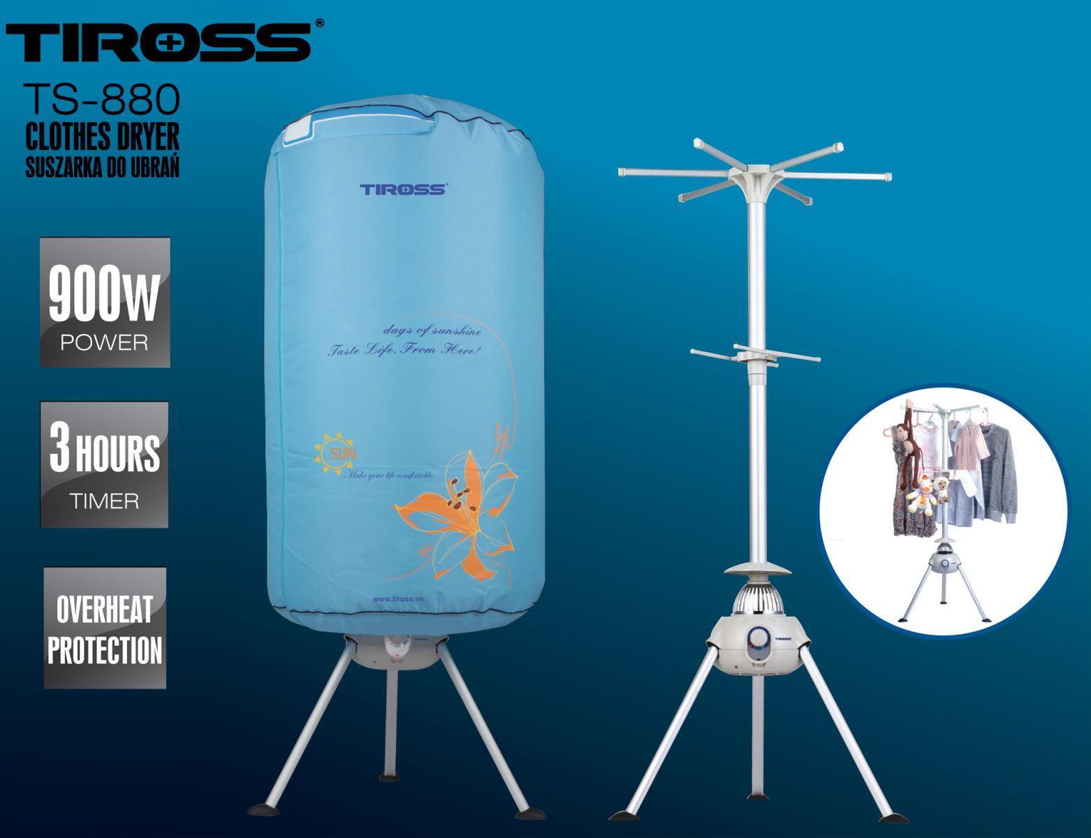 Máy sấy quần áo Tross TS880 công nghệ Ba Lan